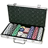 Da Vinci Premium 300 11.5 gram Diamond Suited Poker Chip Set w/3 Dealer Buttons, 2 Decks of Cards, & Case