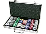 Da Vinci Premium 300 11.5 gram Diamond Suited Poker Chip Set w/6 Dealer Buttons, 2 Decks of Cards, Case, and Dice