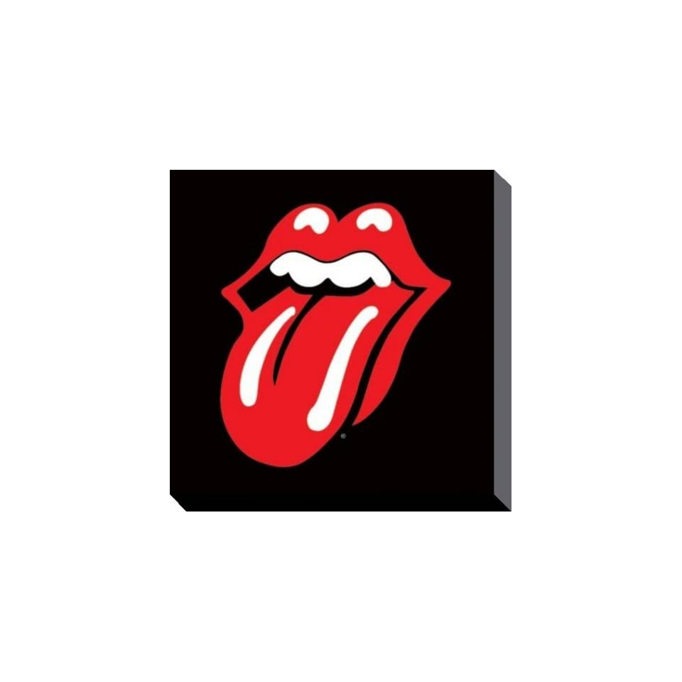 Rolling Stones   Zunge, Logo Poster Leinwandbild Auf Keilrahmen (40 x