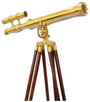 "Handcrafted Nautical Decor Floor Standing Brass Griffith Astro Telescope, 44"", Brass"