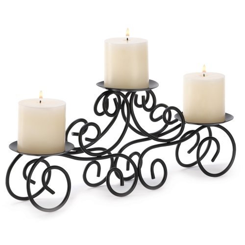 Gifts &#038; Decor Tuscan Candle Holder Wrought Iron Wedding Centerpiece