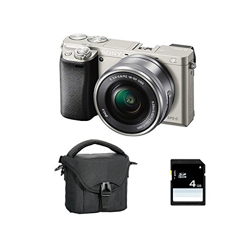 SONY ALPHA 6000 SILVER + 16-50 + SD 4 Go + Sac