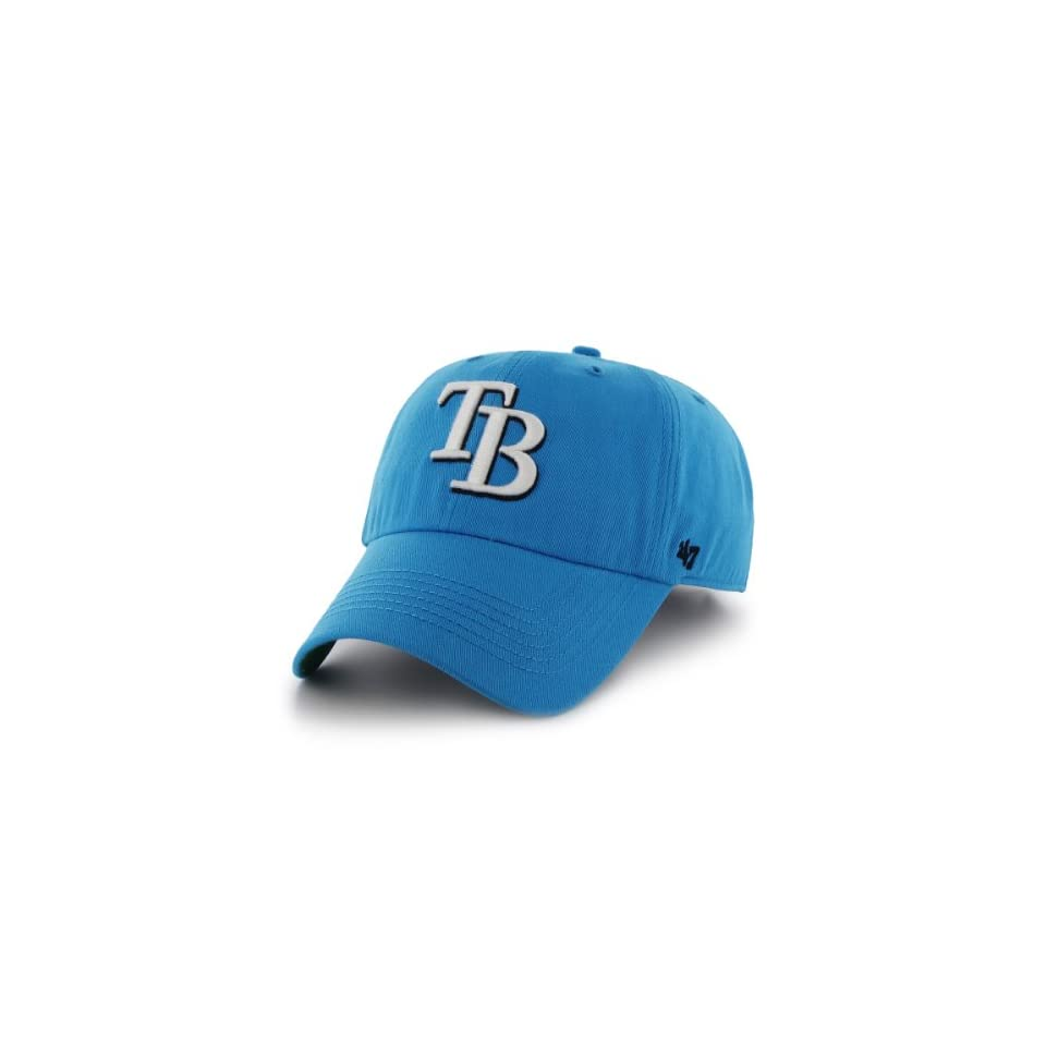 MLB Tampa Bay Rays Mens Bergen Relaxed Fitted Cap, One Size, Glacier Blue