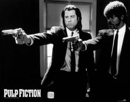 John Travolta Samuel Jackson Pulp Fiction Poster