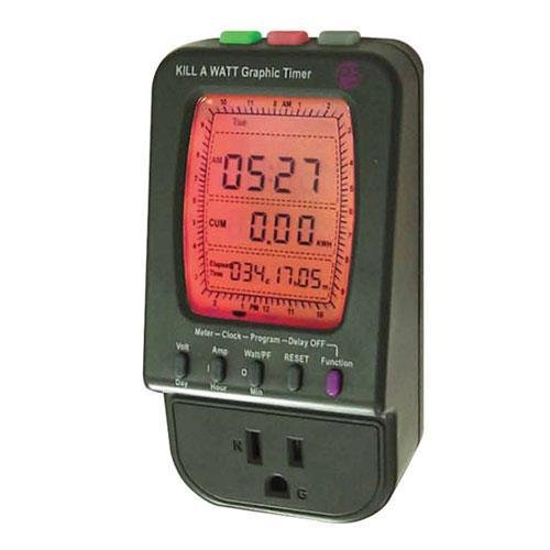 P3 International P4480 Kill A Watt Electricity Usage Monitor with Electronic Graphic Timer