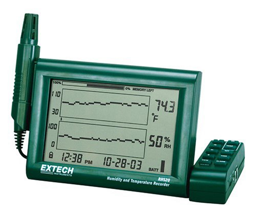 Extech RH520A Humidity and Temperature Chart Recorder with RS-232 Computer Interface - 1