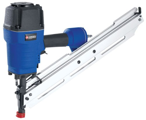 Campbell Hausfeld 3-1/2 In. Round-Head Framing Nailer Kit Ns-2190 21 Degrees W/ Adj. Exhaust