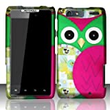 Twisted Tech Hard Plastic Pink Patched Owl Design Matte Case for Motorola Droid RAZR MAXX XT913 / XT916 -Verizon -In Retail Packaging