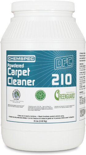 Chemspec DFC21032 White Powdered Carpet Cleaner, 8 lb Jars (Case of 4)