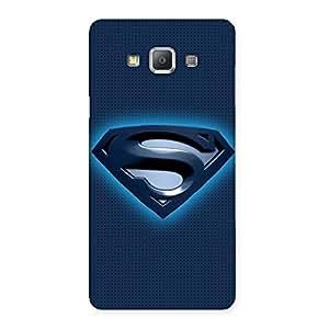 Impressive Premier Blue Day Multicolor Back Case Cover for Galaxy A7