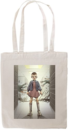 stranger-things-eleven-escapes-lab-fan-art-tote-shopping-bag