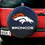 Denver Broncos NFL Spare Tire Cover (Standard) (Black)