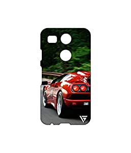 Vogueshell Sports Car Printed Symmetry PRO Series Hard Back Case for LG Nexus 5X