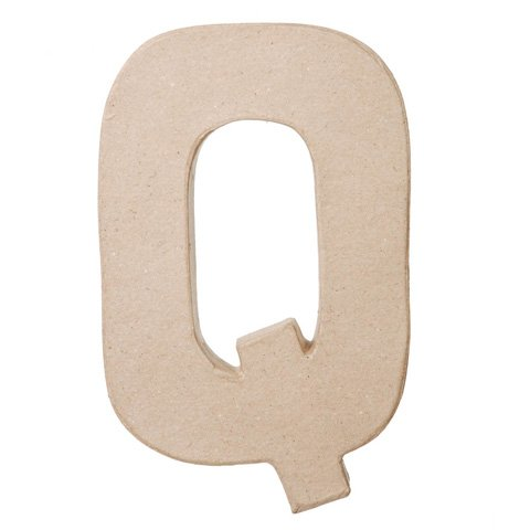 "Ready To Decorate Paper Mache Capital Letter ""Q"" For Crafting, Creating And Projects"