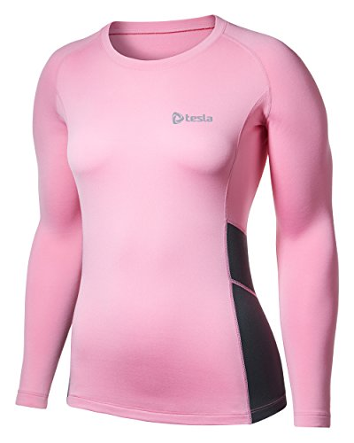 Tesla-Womens-Thermal-Coldgear-Compression-Long-Sleeve-T-Shirts-WR34