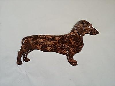 Dachshund Doxie Dog Antique Copper Metal Wall Art Decor