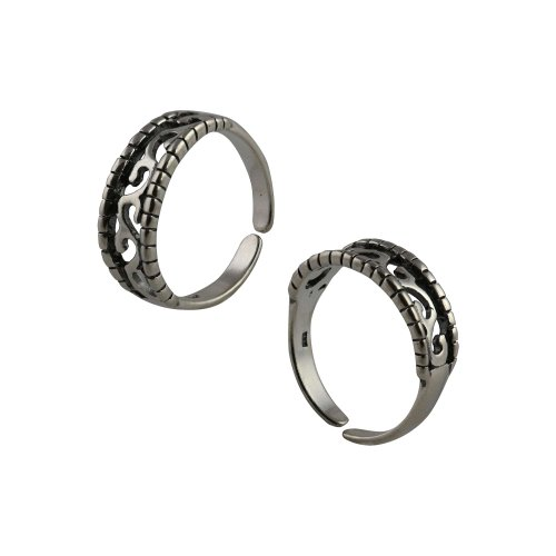 Toe Rings for Women Adjustable Sterling Silver Jewelry Indian