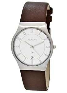 Skagen Men's 233XXLSL Stainless Steel Leather Strap Watch
