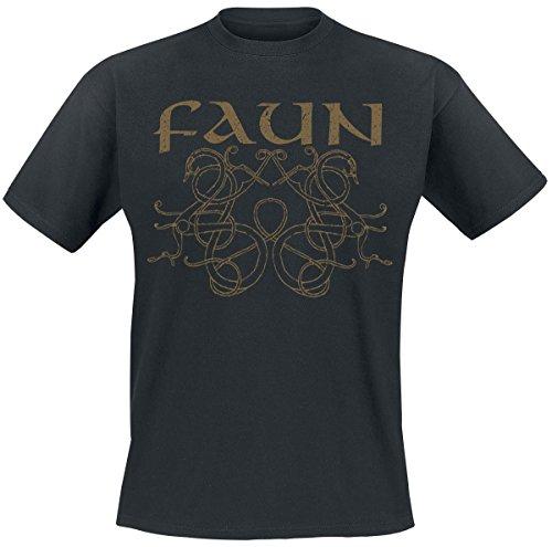 Faun Wikinger Ornament T-Shirt nero XXL