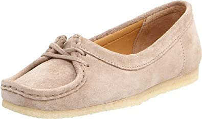 Clarks Women's Wallabee Chic Slip-On Loafer,Sand Suede,6.5 M US