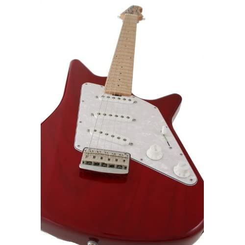 Ernie Ball Music Man マーティン Albert Lee Vintage Tremolo Electric Guitar, Trans Red 並行輸入品