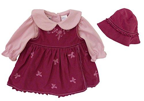 B.T. Kids Baby Girls' 3 Pc Raspberry Cord Jumper Set 3/6 Mos Raspberry Pink front-567465