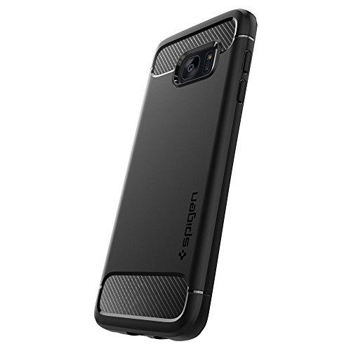 Custodia Galaxy S7 Edge, Spigen [Rugged Armor] Impressionante Black [Design Meccanica Durevole] Massima Protezione Da Cadute e Urti - Custodia Samsung Galaxy S7 Edge, Cover Galaxy S7 Edge (556CS20033)