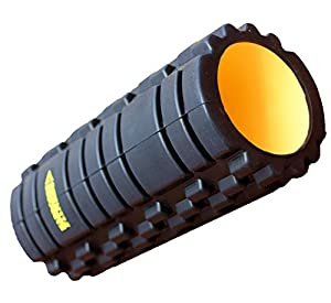 HardCore Foam Roller: Get Fast Relief From the Pain of Sore, Tight Muscles In Your Upper and Lower Back, Quads, Calves and Knees - Enjoy the Firmest, Deepest Massage From the Unique Gym Quality Extra Rigid Indestructi-Core. Complete With Workout Guide E-Book Containing 20 of the Best Powerful Trigger Point Massage Roller Exercises and Stretches (Black)