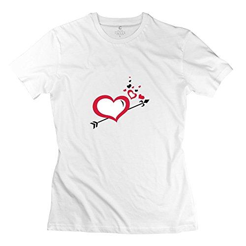 Woman Hearts Art T-Shirt - Retro Custom White Tshirts