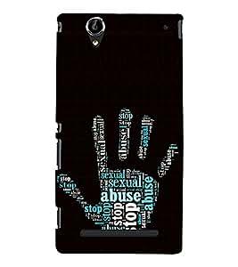 ifasho Designer Phone Back Case Cover Sony Xperia T2 Ultra :: Sony Xperia T2 Ultra Dual SIM D5322 :: Sony Xperia T2 Ultra XM50h ( Blue Dot Brown Rose Colorful Pattern Design )