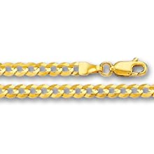 10K Yellow Gold Comfort Curb Chain – Width 2.6mm