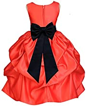 Wedding Pageant Christmas Red Pick-up Kid Flower Girl Dress 208t
