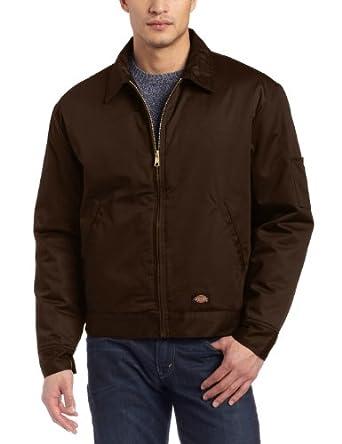 Dickies Men's Lined Eisenhower Jacket, Dark Brown, X-Large