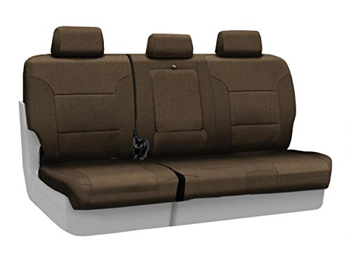 Coverking Custom Fit Rear 60/40 Bench Seat Cover For Select Cadillac Srx Models - Velour (Taupe) front-1065390