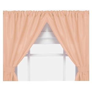 Home fashions vinyl bathroom window curtain peach home amp kitchen