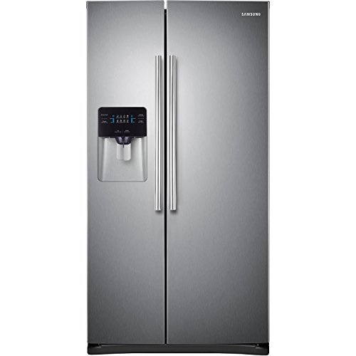 Samsung RS25H5000SR Energy Star 24.5 Cu. Ft. Side-by-Side Refrigerator/Freezer with External Filtered Water/Ice Dispenser, Stainless Steel (Samsung Freeze compare prices)