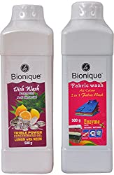 Le Bionique Dish Wash and Fabric Wash - Combo of 2