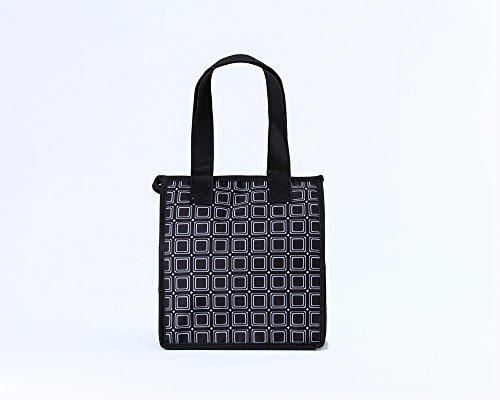 Artecobags Original Insulated Lunch Bag - Black & White Squares