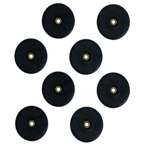 New Set Of 8 Black Rubber Large Speaker Dj Pa Cabinet Feet F615