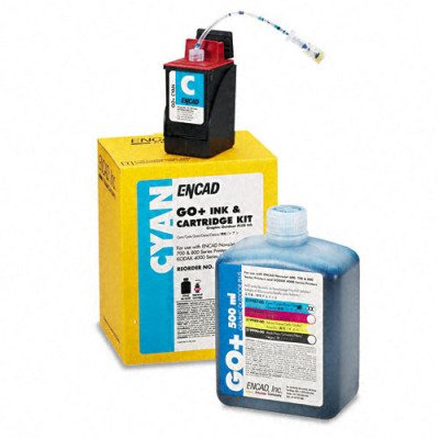 Kodak 21998700 Ink & Cart Kit, 1 Botl of Ink/1 Ink Ctg/1 Service Pack, Cyan