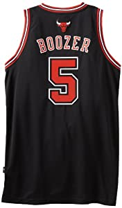 NBA Chicago Bulls Black Swingman Jersey John Paxson #5 by adidas