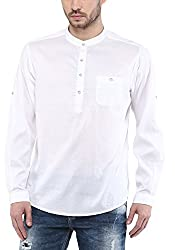 Mufti Mens White Slim Fit Shirt