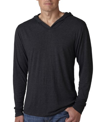 6021 Next Level Men's Tri-Blend Long-Sleeve Hoodie
