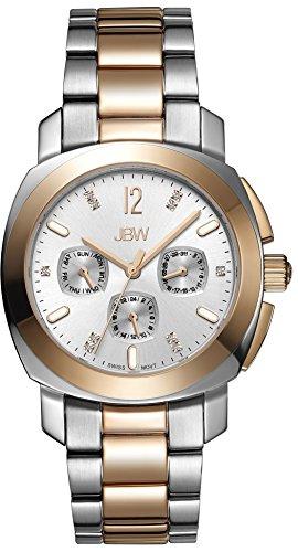 JBW  J6298E - Reloj de cuarzo para mujer, con correa de acero inoxidable chapado, color plateado