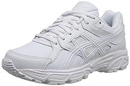 ASICS Gel Contend 3 GS SL Running Shoe (Little Kid/Big Kid), Triple/White/Snow, 5 M US Big Kid
