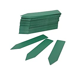 Generic 100 pcs Long Stick in Plastic Garden Plant Seed Labels Nursery Stake Tags - Green