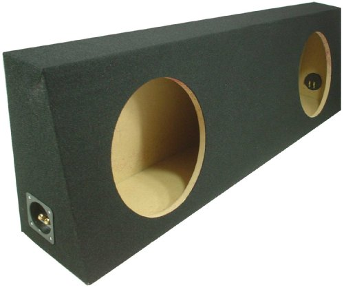 "Asc Dual 12"" Subwoofer Regular Standard Cab Truck Sealed Sub Box Black Speaker Enclosure"