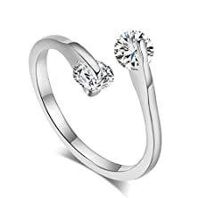 buy Bbx Jewelry Women'S Rings White Zircon Wedding Band And Engagement Openings Ring