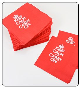 Party Supplies, Party Ideas, Party Decorations, Napkins Cocktail Size -Keep Calm and Carry On