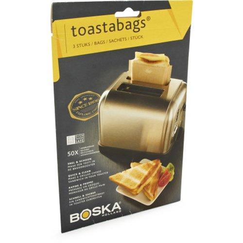 Boska Toastabags 01-30-29 , Brown,3 bags/sachets